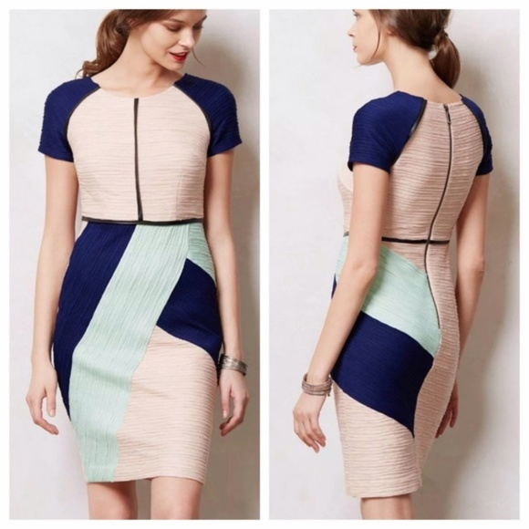 f03413d9f6edc Anthropologie Dresses & Skirts - Anthropologie Maeve Danita Sheath  Colorblock Dress